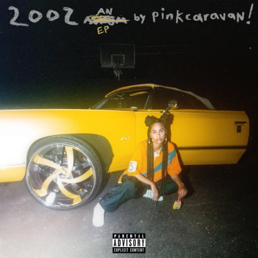 "Album cover of pincaravan!'s second EP ""2002."""
