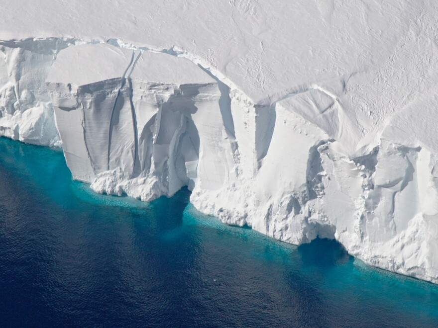Warming oceans are melting the ice around Antarctica, accelerating how much ice flows off the continent.