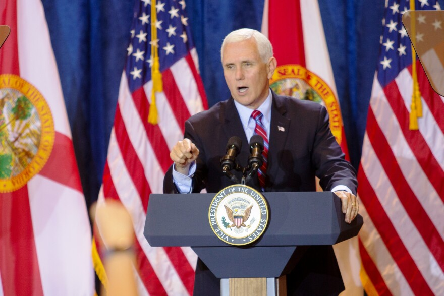 Mike Pence at podium