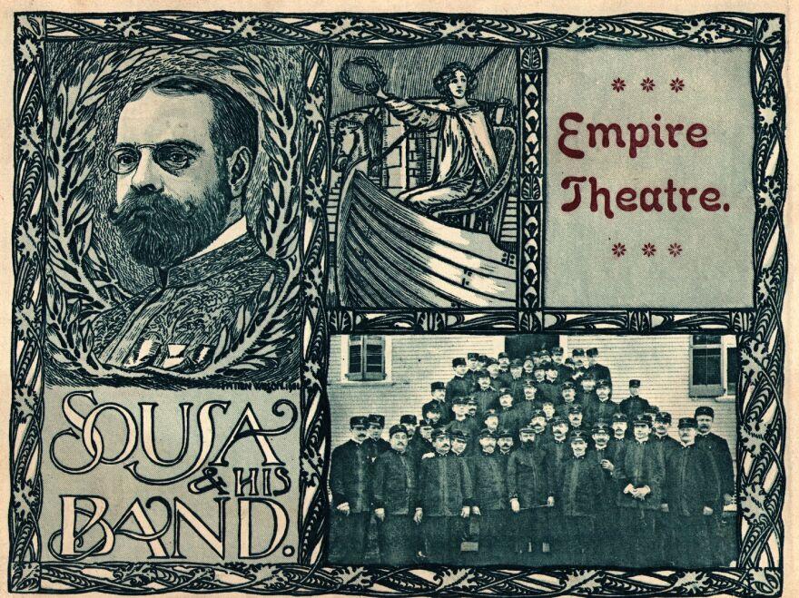Circa 1910: A program advertising John Philip Sousa and his band.