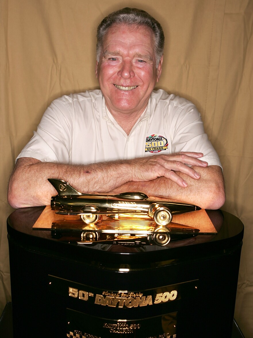 Buddy Baker, the 1980 Daytona 500 winner, has died at age 74. Here, he poses at Daytona International Speedway in 2007.