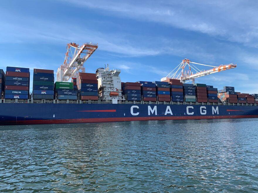 CMA CGM cargo ship