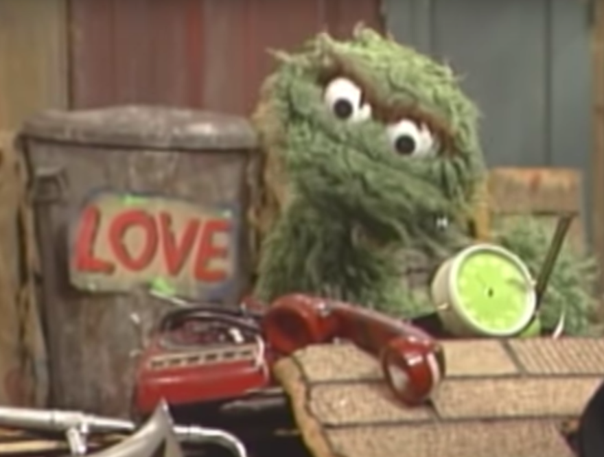 screen capture of Oscar the Grouch