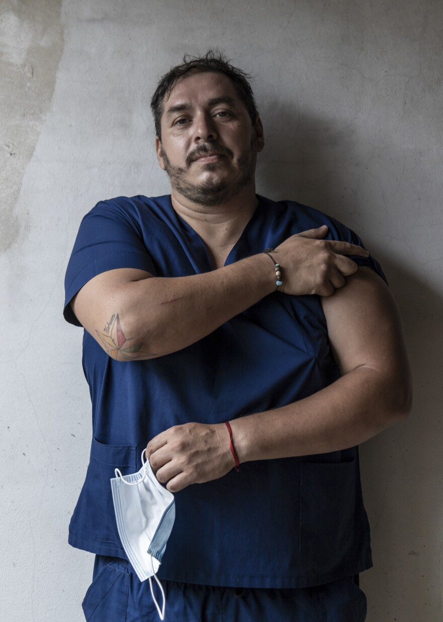 Ivan Martin Burnes is a nurse at the Lucio Melendez Hospital in Adrogué just south of Buenos Aires. He says debate about the  effectiveness of the Sputnik V shot misses the point and that Argentina has to use the vaccine it's got.