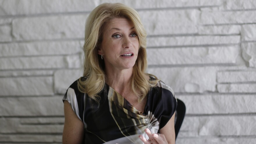 Texas Democratic gubernatorial candidate Wendy Davis takes part in an interview Monday in Austin, Texas.