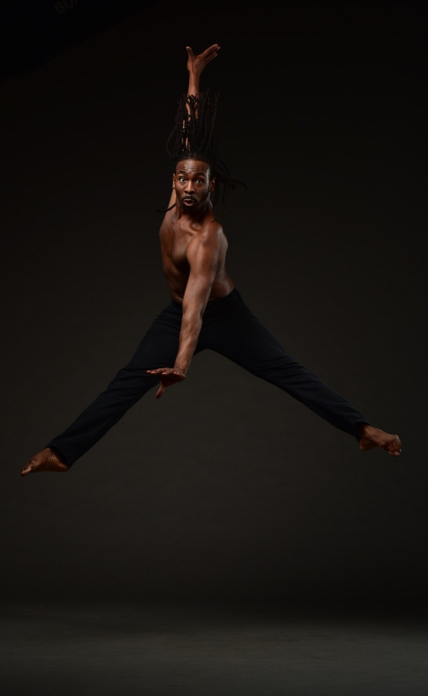 DCDC dancer Devin Baker and his fellow dancers had to adjust their movements in their home rehearsal spaces.