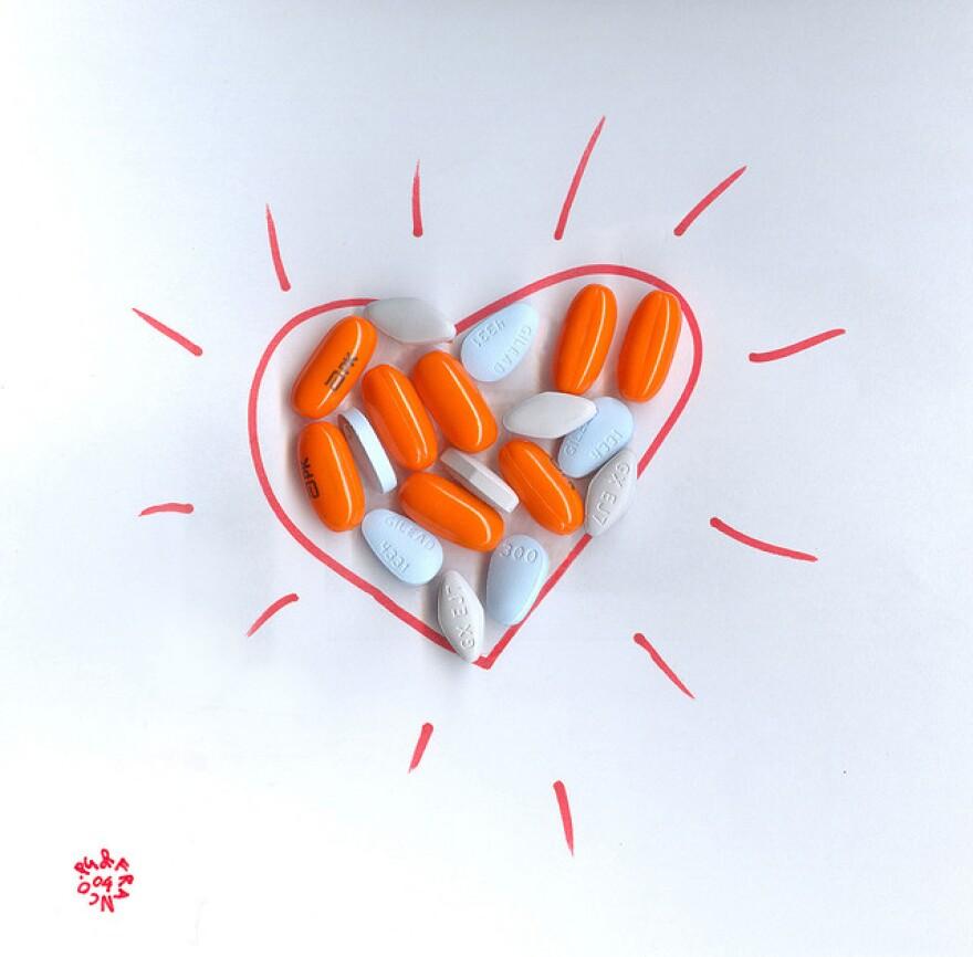 Antiretroviral drug illustration