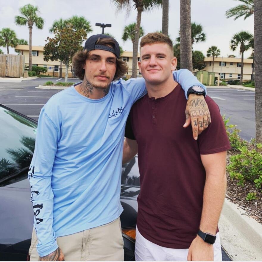 Kevin Ferren, left, went into recovery for drug use during the COVID-19 pandemic.